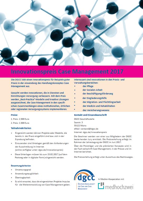 Innovationspreis Case Management 2017