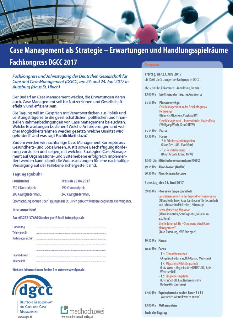 Jahrestagung der DGCC 2017