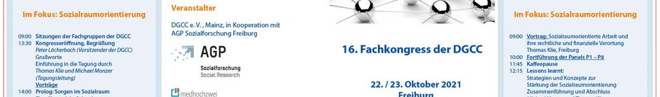 Programm des 16. Fachkongress der DGCC 2021